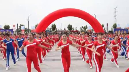 航拍_成阳市喜迎十六运活动