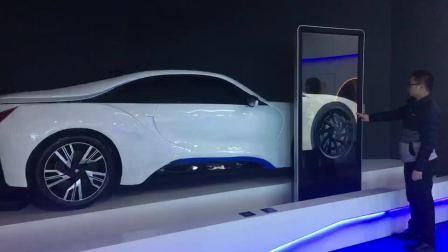 新车发布汽车透视滑轨展示