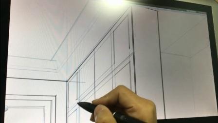 奇翼设计学院门厅电脑手绘SKB教程