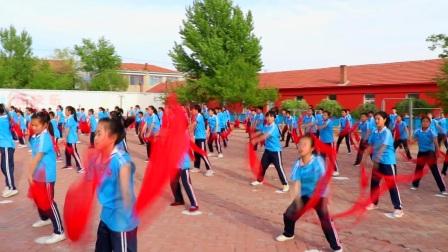 库伦旗水泉乡学校安代舞表演