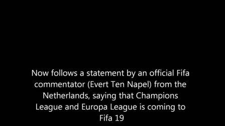 【电玩巴士】FIFA解说员爆料《FIFA19》将加入欧洲冠军联赛