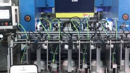 银工机械全自动智能铝箔容器航空餐盒一次性容器饭盒铝箔冲压机冲床生产线稳定运行的便宜的煲仔碗制造机