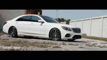 Vossen Hybrid Forged HF-2 Wheel _ Mercedes-Benz S Class _ Brushed Gloss Black