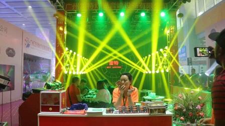 雷特灯光2018广州国际灯光音响展展会蒙多260W光束灯光秀