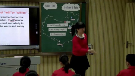 外研版(三起)小学英语六下Module2  Unit 2 It will snow in Harbin.广东周丽明