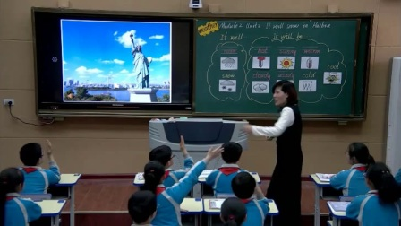 外研版(三起)小学英语六下Module2  Unit 2 It will snow in Harbin.河南邱菊清