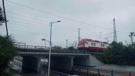京局京段SS90124牵引X105次(黄村-闵行)高速通过