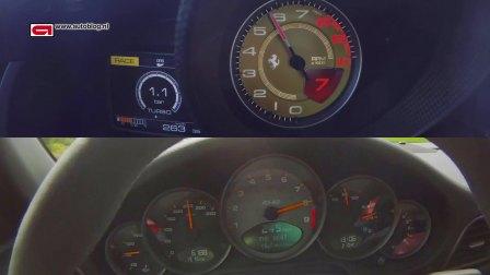Ferrari 488 GTB vs Porsche 997 GT3 RS 4 0加速对比