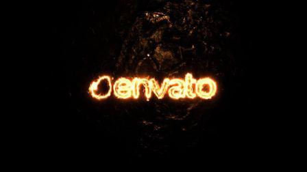 能量火焰燃烧LOGO标志片头