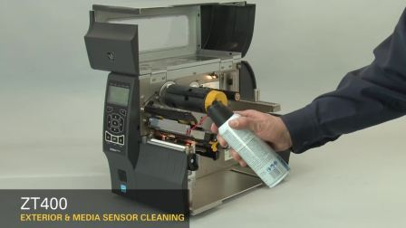 ZT400 清洁标签传感器及打印机外部(英语无字幕)