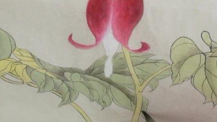 跟乐知轩主(耿老师)学工笔画——荷包牡丹(3)