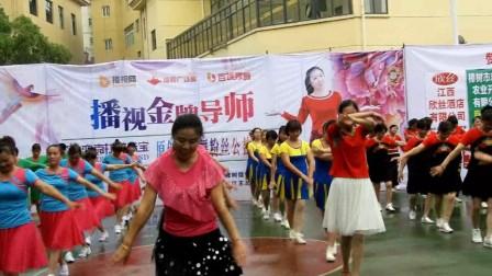 樟树雪华原创广场舞联谊会昌傅镇展示会 开场舞《橹起袖子加油干》2018年5月27日