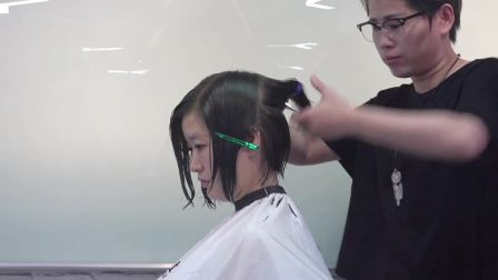 汤尼盖发型 上海托尼盖美发学校 剪短发视频2018