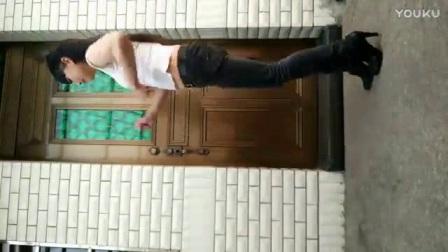我在永东广场舞 手机竖屏版   紧身牛仔裤截了一段小视频