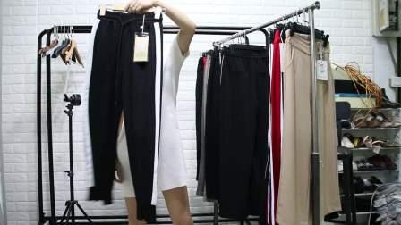 精品女装批发服装批发时尚服饰夏装女士新款九分休闲女裤30件起批,可挑款码子均配~1