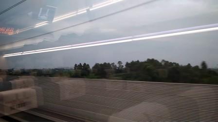 成都高铁开往重庆 高铁往外看沿途风景