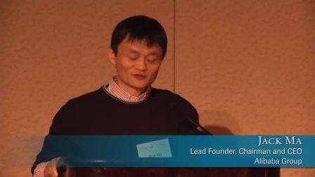 马云作为大自然保护协会主席发表演讲