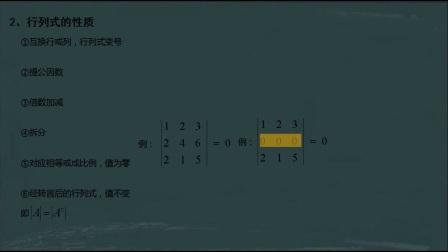 2小时速成线性代数考试不挂科线性代数第一课时行列式
