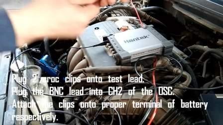 Hantek1008C汽车诊断测试之~~~~充电电路 电流电压