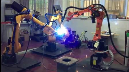 20180613  多机器人协作完成管管工件的物理焊接实验