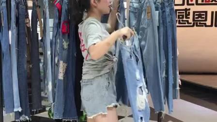 牛仔裤系列品牌折扣女装批发