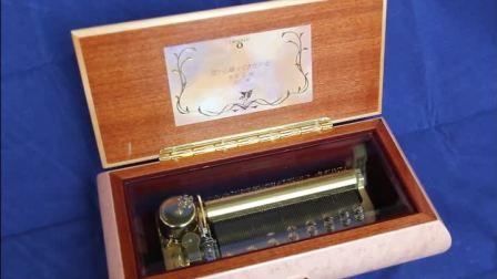 日本SANKYO72音木质光面烤漆八音盒音乐盒创意生日礼物送男女生浪漫特别 曲目天空之城