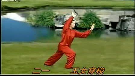 吴阿敏吴式45式太极拳背面示范(标拳谱)