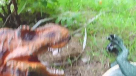 最新恐龙动画片 侏罗纪恐龙玩具 恐龙鲨鱼大冒险记25