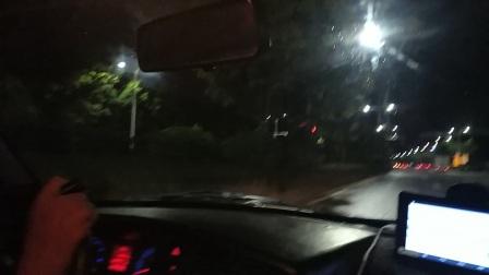 惠州汤泉4号线出路口后到终点现代驾校详解。