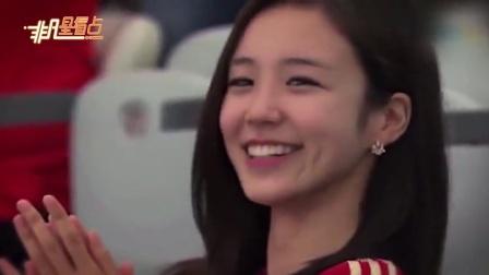 回眸一笑百媚生!世界杯热情似火 美女主播张艺媛现身