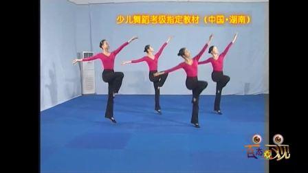 湖南省少儿舞蹈考级全套视频教材之第九级中间练习:小跳组合