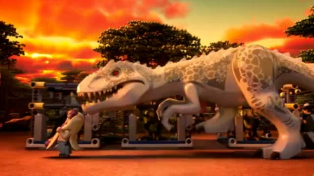 我在乐高侏罗纪世界:逃走的帝王暴龙截取了一段小视频