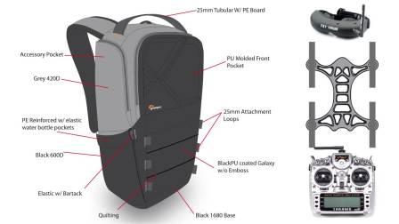 乐摄宝护航者系列- FPV竞速飞行器背包