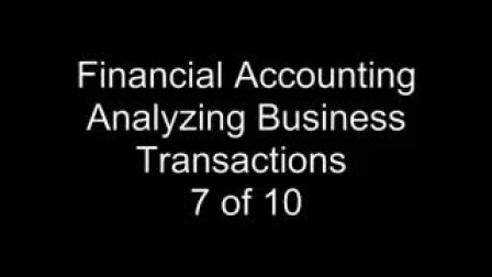 Accounting Transactions 7- Journal Entries 1