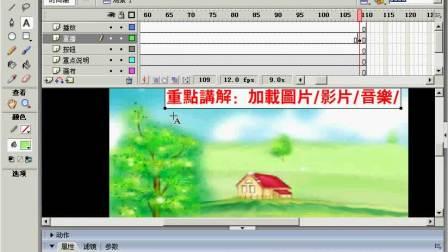 FLASH动画制作44 加载图片 loadMovieNum