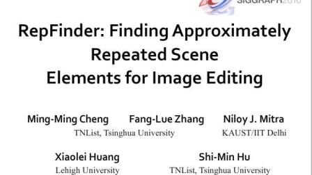 RepFinder: Finding Approximately Repeated Scene El