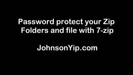Password protect Zip Folders and files with 7-zip