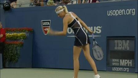 2009美国网球公开赛女单R1 莎拉波娃VS皮隆科娃