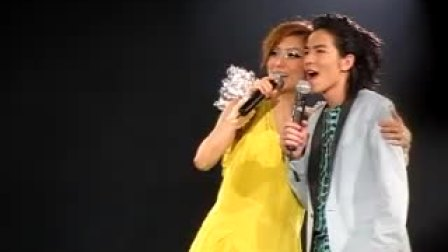 郑秀文与嘉宾萧敬腾的对话 at 台北小巨蛋演唱会