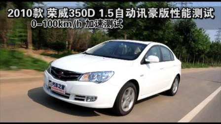 2010款 荣威350D 1.5自动迅豪版性能测试改