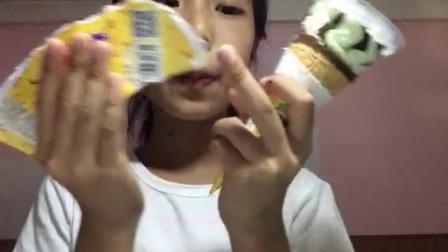 哈密瓜口味的冰淇淋🍦!!!!!