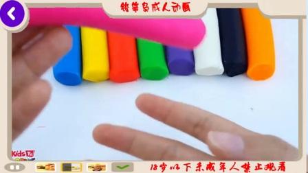微波冰激凌彩虹惊喜水果蛋糕学习颜色玩模具动物