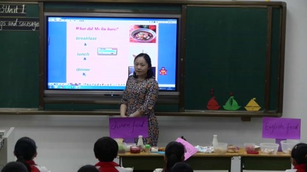 外研版(三起)小学英语五下Module3  Unit 1 She had eggs and sausages.宁夏刘丽