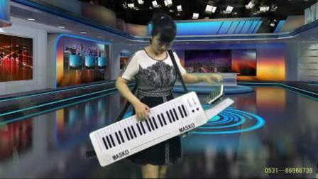 野蜂飞舞刘璐背挎双排三排键手风琴伴式电子琴合成器独奏