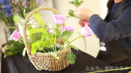 手提花篮插花,如何把花篮插出小清新的感觉?