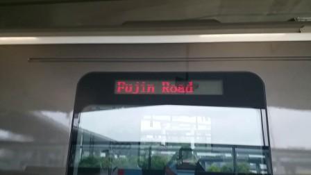 上海地铁1号线新车钢铁侠汶水路出站