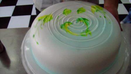彩绘蛋糕 果膏蛋糕的制作 青岛东晖生日蛋糕学校 视频