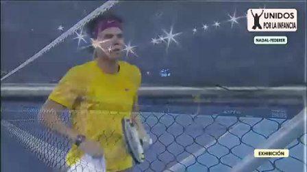[高清]2010费德勒vs纳达尔 马德里慈善赛 第1盘