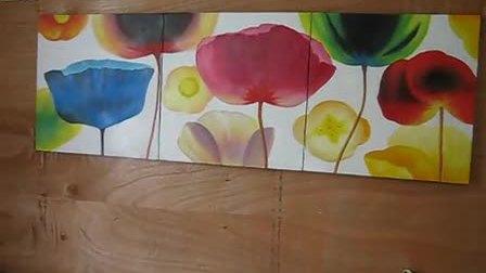 装饰画 手绘油画制作过程 现代时尚油画