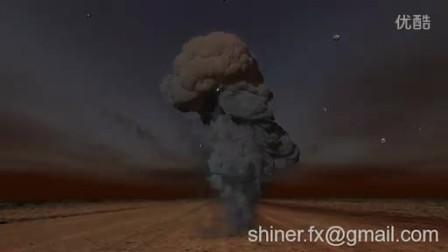 maya fluid  explosion  蘑菇云爆炸测试